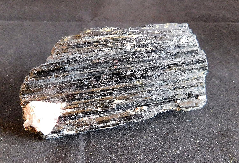 Recoge una gran cantidad de 115 mm x 57 mm x 44 mm (aprox, 422 G) forma Natural negro Monolito de cristal de turmalina caña Reiki Rock - producto Wicca de ...
