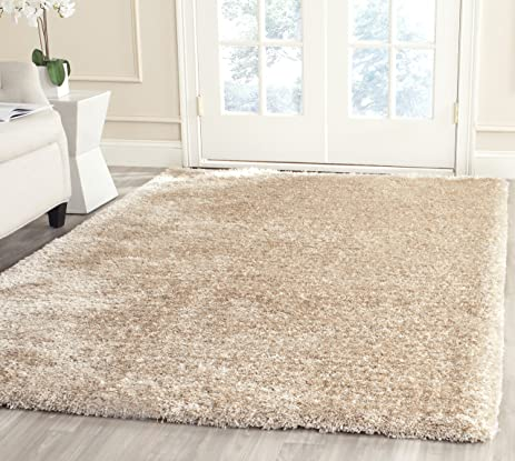 Safavieh South Beach Collection SBS562C Handmade Champagne Polyester Area  Rug (5u0027 X ...