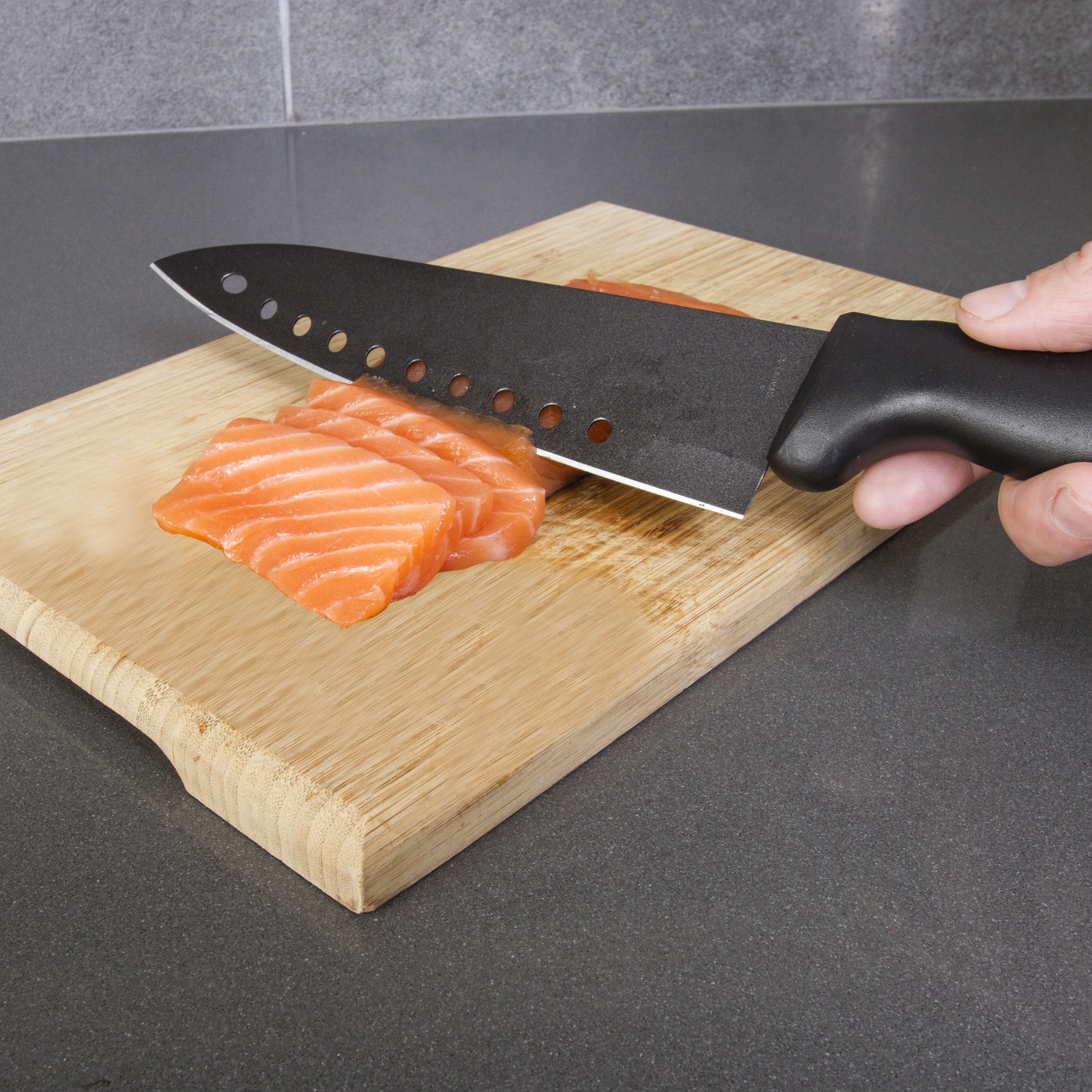 Kitchen + Home Non Stick Sushi Knife - The Original 8 inch Stainless Steel Non Stick Multipurpose Chef Knife by Kitchen + Home (Image #4)
