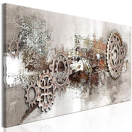 decomonkey Bilder Abstrakt 120x40 cm 1 Teilig Leinwandbilder Bild auf  Leinwand Vlies Wandbild Kunstdruck Wanddeko Wand Wohnzimmer Wanddekoration  Deko ...