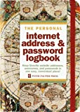Old World Internet Address & Password Logbook (removable cover band for security)