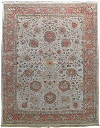 Amazon Com Merorug Traditional Nepalese Hand Knotted Rug 9 X 12 Wool Area Rug 9 Feet X 12 Feet Rust Color Rug Furniture Decor