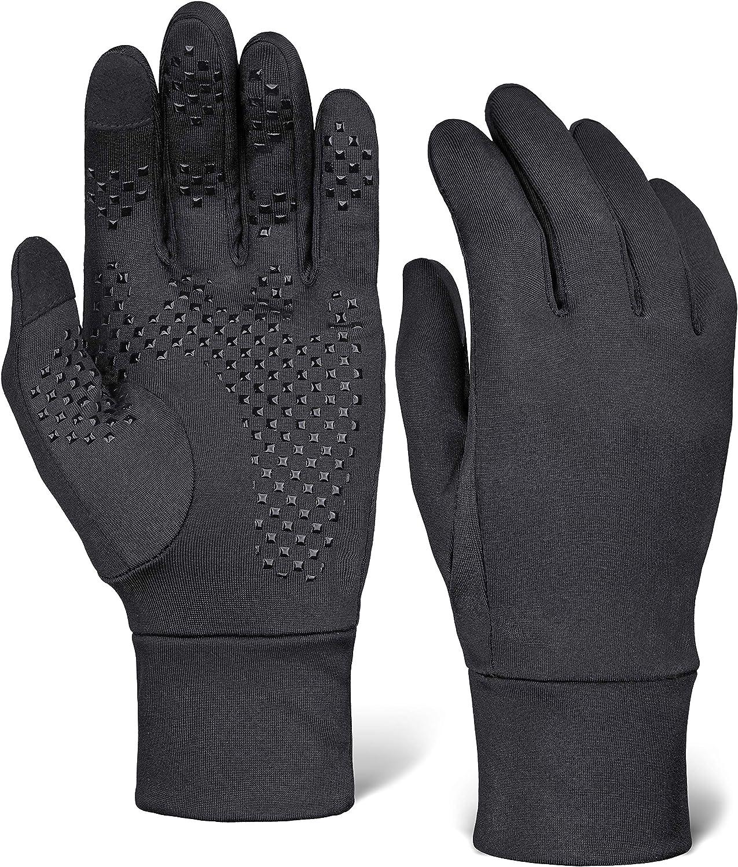 Men Women Reflective Sport Gloves Thermal Walking Sports Running Screen