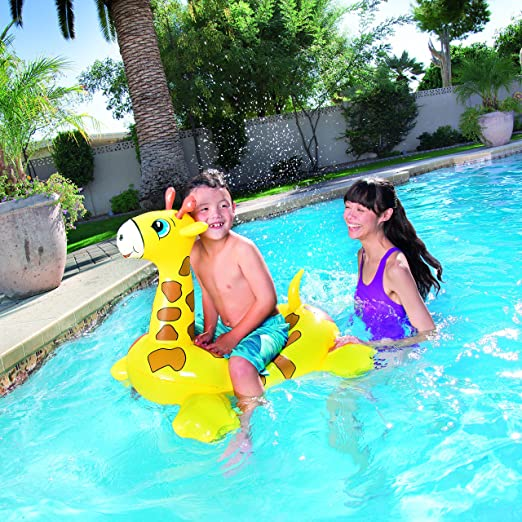 Bestway Inflatable Giraffe Float Pool Fun Toy: Amazon.co.uk: Toys U0026 Games