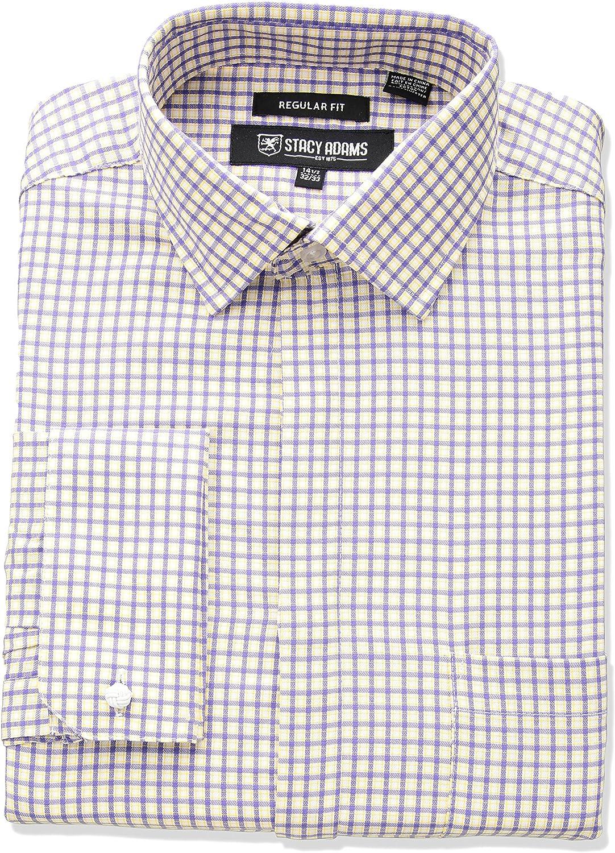 Stacy Adams Camisa de Vestir para Hombre, a Cuadros: Amazon.es: Ropa y accesorios