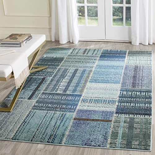 Deal of the week: Safavieh Monaco Collection MNC215F Modern Patchwork Distressed Non-Shedding Stain Resistant Living Room Bedroom Area Rug