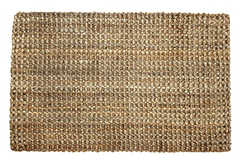 Iron Gate Handspun Jute Area Rug 3×5 Hand Woven by Skilled Artisans, 100 Natural eco-Friendly Jute Yarns, Thick Ribbed Construction, Reversible for Double The wear, Rug pad Recommended
