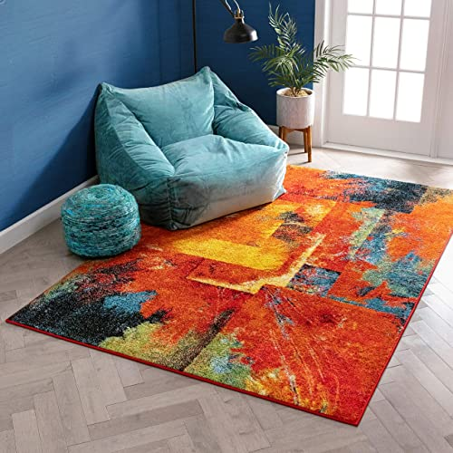 "Well Woven Inspiration Multicolor Boxes Geometric 8x10 7'10"" x 9'10"" Area Rug"