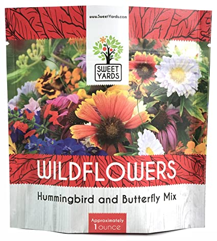 Amazon wildflower seeds butterfly and humming bird mix large wildflower seeds butterfly and humming bird mix large 1 ounce packet 7500 seeds mightylinksfo