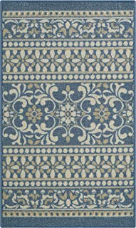 product image for Maples Rugs Zoe Kitchen Rugs Non Skid Accent Area Carpet [Made in USA], 1'8 x 2'10, Blue