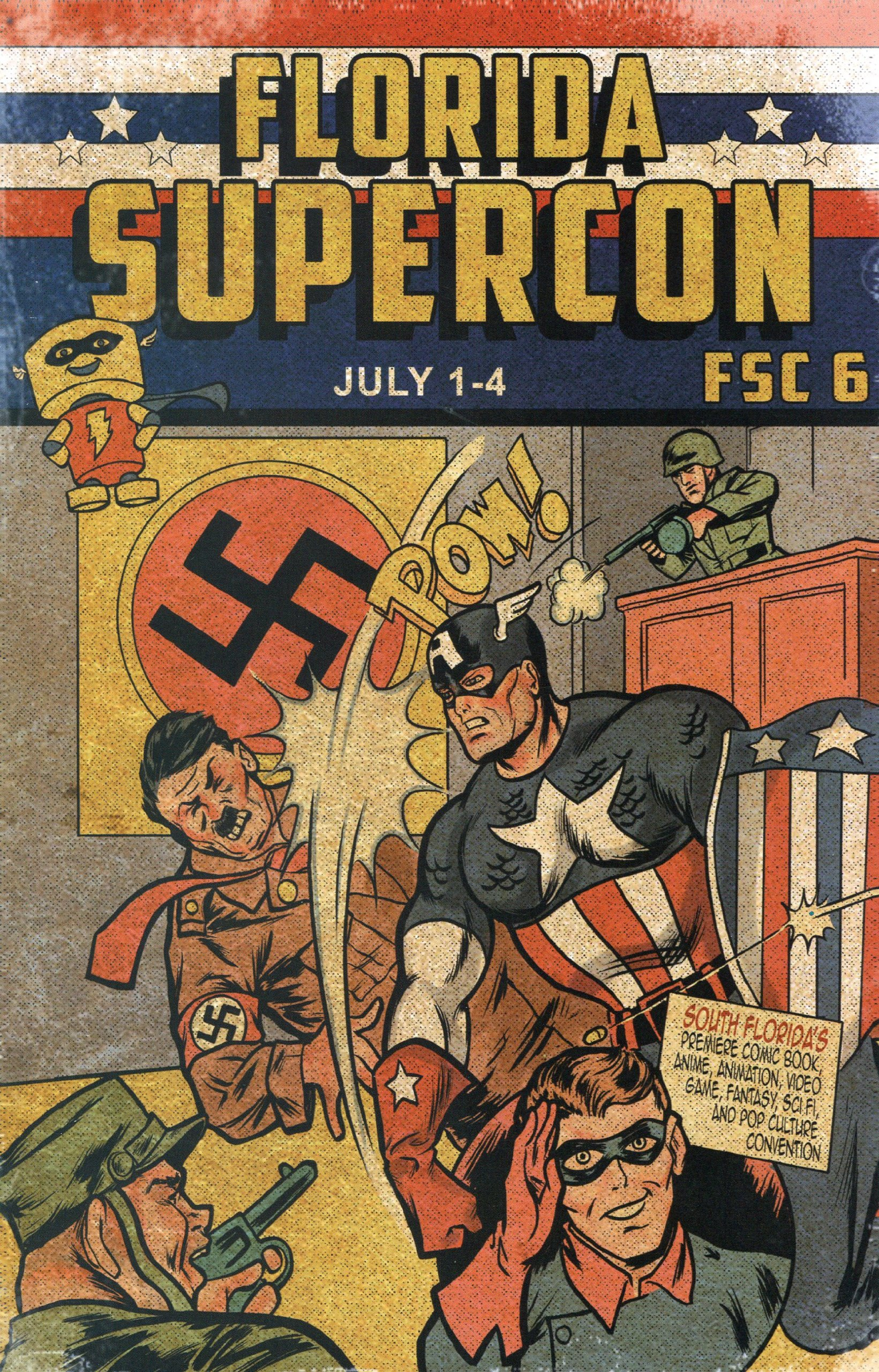 2011 Florida Supercon Program/Guide Captain America Cover