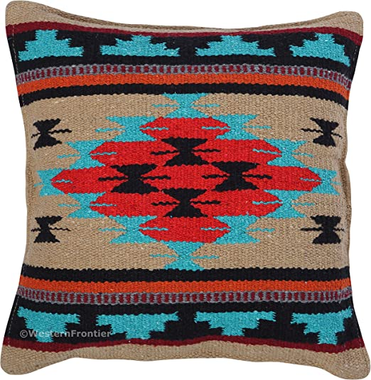 FREE SHIPPING 18 x 18 Pattern R Southwestern Style Accent Pillow Cover