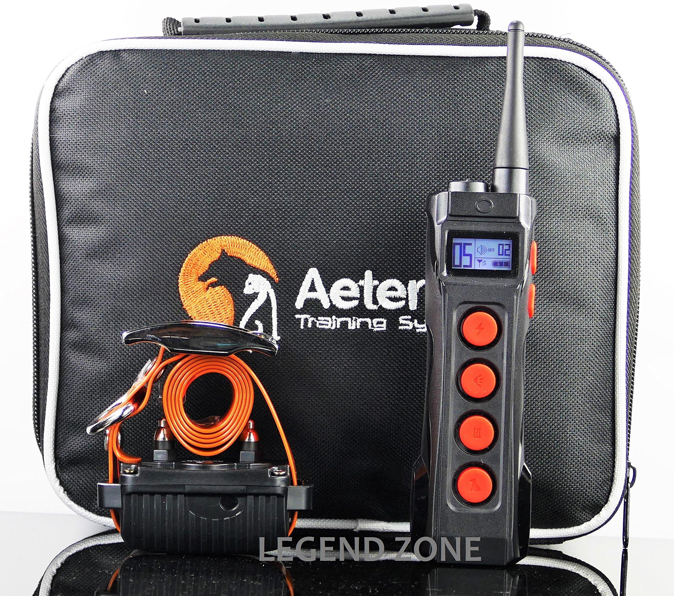 Aetertek 1000 Meter Rechargeable Waterproof Remote Training Collar,Safe Humane Correctional Tone,Vibration,10 Levels of Adjustable Static Stimulation, Auto Anti Bark (One Dog Set) by Aetertek