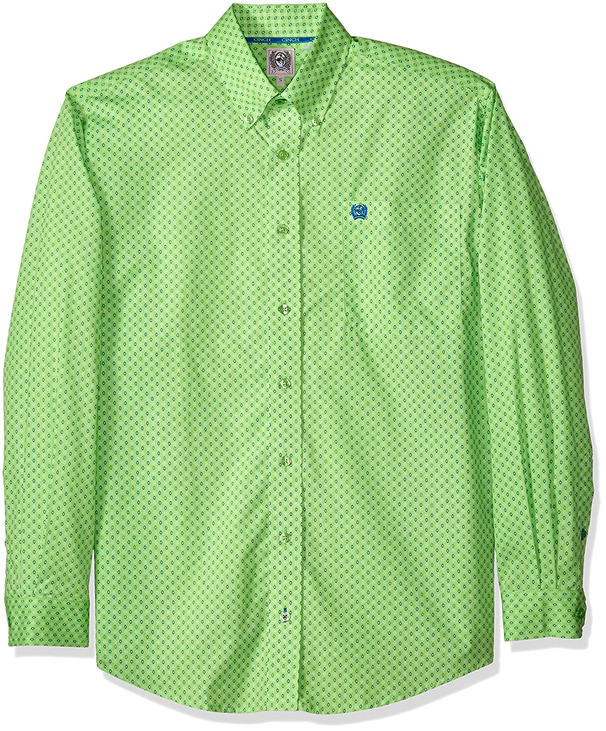 Cinch Mens Classic Fit Long Sleeve Button One Open Pocket Print Shirt