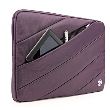 VanGoddy Jam Bubble Padded Striped Carrying Sleeve for Lenovo Yoga Series 13.3 inch Laptops (Purple)