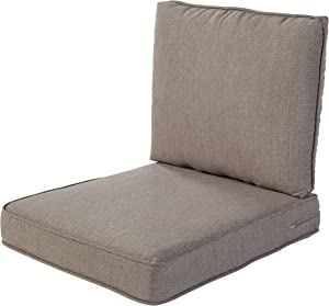 Quality Outdoor Living 29-TP04SB All-Weather Deep Seating Chair Cushion, 23 x 26 (Pack of 2), Taupe