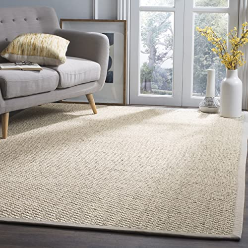Safavieh Natural Fiber Collection NF525C Marble Sisal Area Rug 5' x 8'
