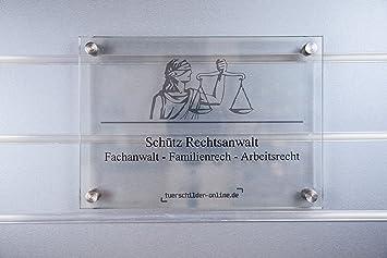 Esg Glas Preise ~ Glastürschild toscana 297 x 210 mm 4 halter türschild aus esg