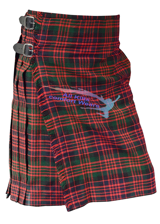 Scottish Men's MacDonald 5 Yard & 13Oz Tartan Kilt - Tartan Kilts