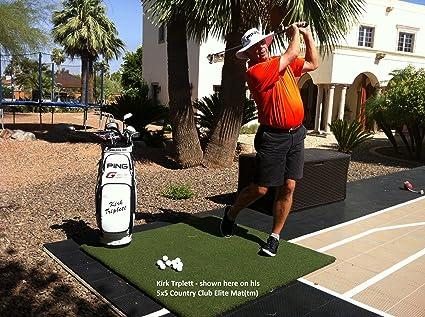 Real Feel Golf Mats >> Amazon Com The Original Real Feel Golf Mats Country Club Elite 4