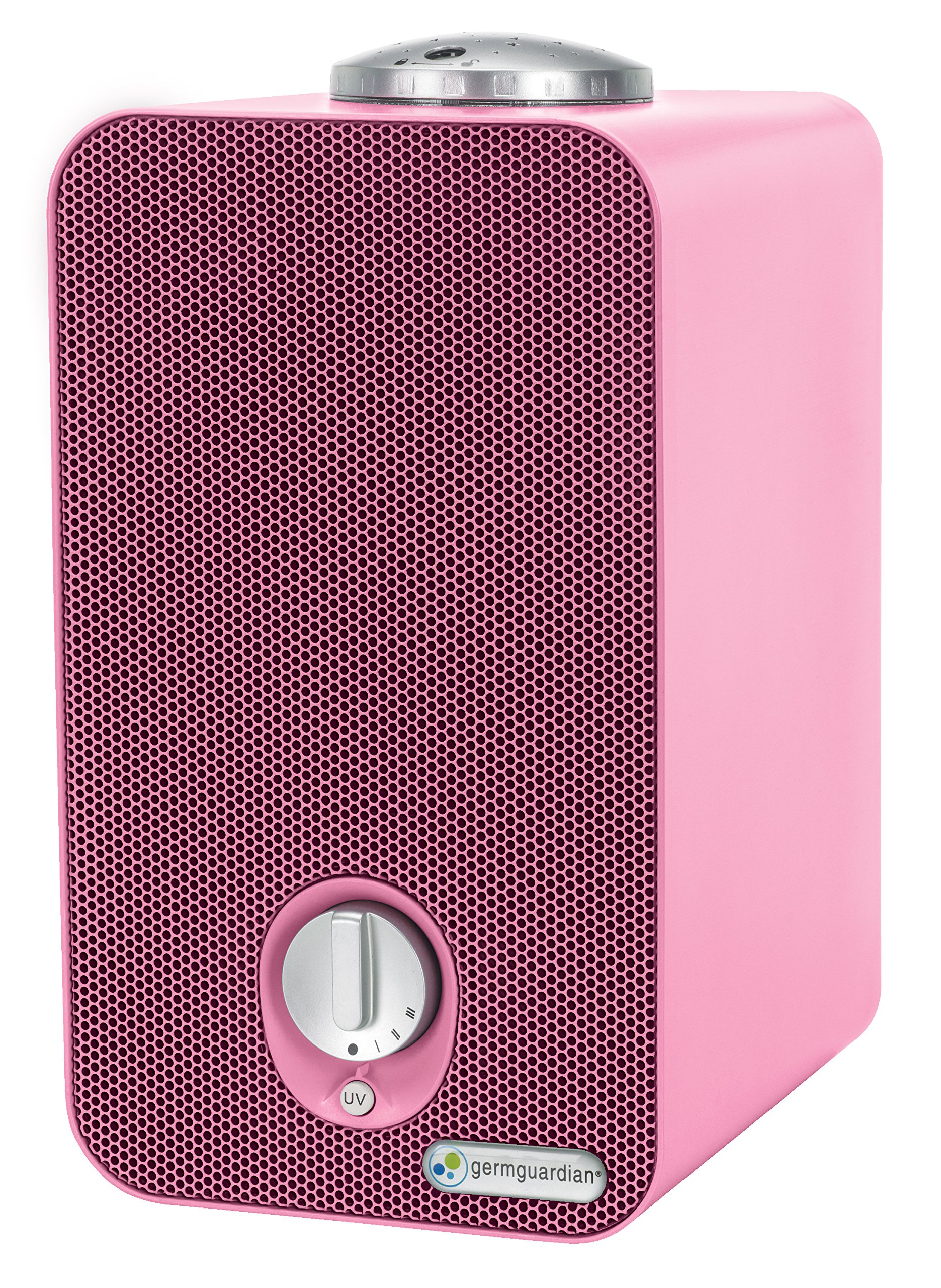 GermGuardian AC4150PCA Night-Night 4-in-1 Air Purifier, HEPA Filter, UV-C Sanitizer, Captures Allergens, Smoke, Odors, Mold, Dust, Germs, Pets, Smoker, Projector, Germ Guardian Home Air Purifier, Pink