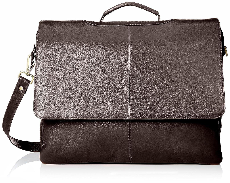 Visconti 658 Womens Leather Business Shoulder Messenger Bag Briefcase Black