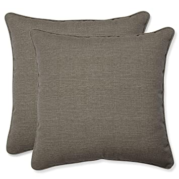Amazon.com: Almohada perfecto decorativas Taupe con textura ...