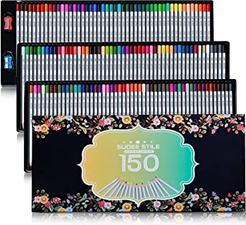 SUDEE STILE Colored Pencils 150 Unique Colors
