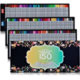 SUDEE STILE Colored Pencils 150 Unique Colors (No Duplicates) Art Drawing Colored Pencils Set with Case