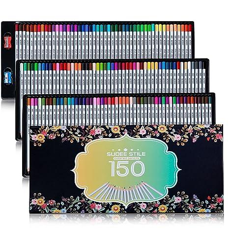 amazon com sudee stile colored pencils 150 unique colors no
