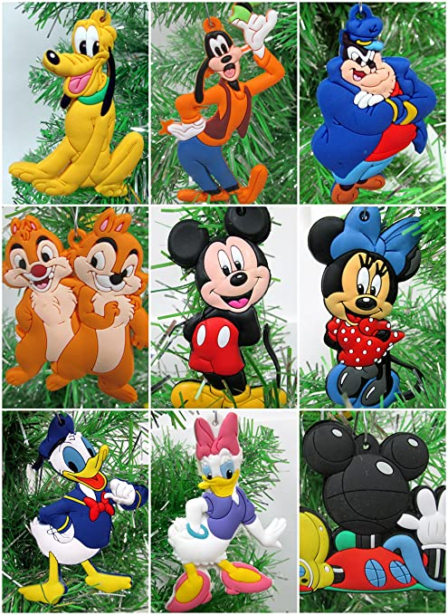 mickey mouse clubhouse christmas ornament set featuring mickey and gang unique shatterproof plastic design around - Mickey Mouse Clubhouse Christmas