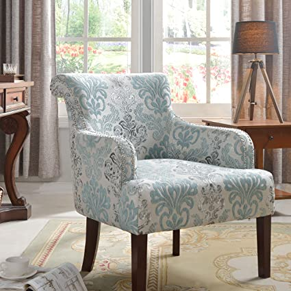 Best Master Furniture Regency Living Room Damask Accent Chair, Medium