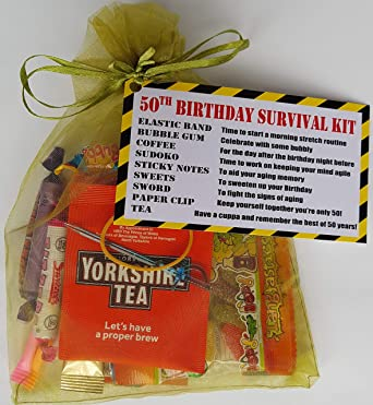 50th Birthday Survival KIT A Dinky Gift Present