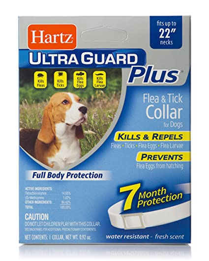 Amazoncom Hartz Ultraguard Plus Flea Tick Dog Collar Pet Flea