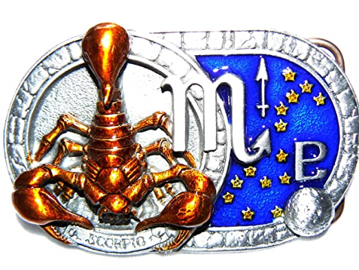 sélectionner pour officiel bons plans sur la mode sélectionner pour véritable Boucle de ceinture Motif signe du zodiaque Scorpion: Amazon ...
