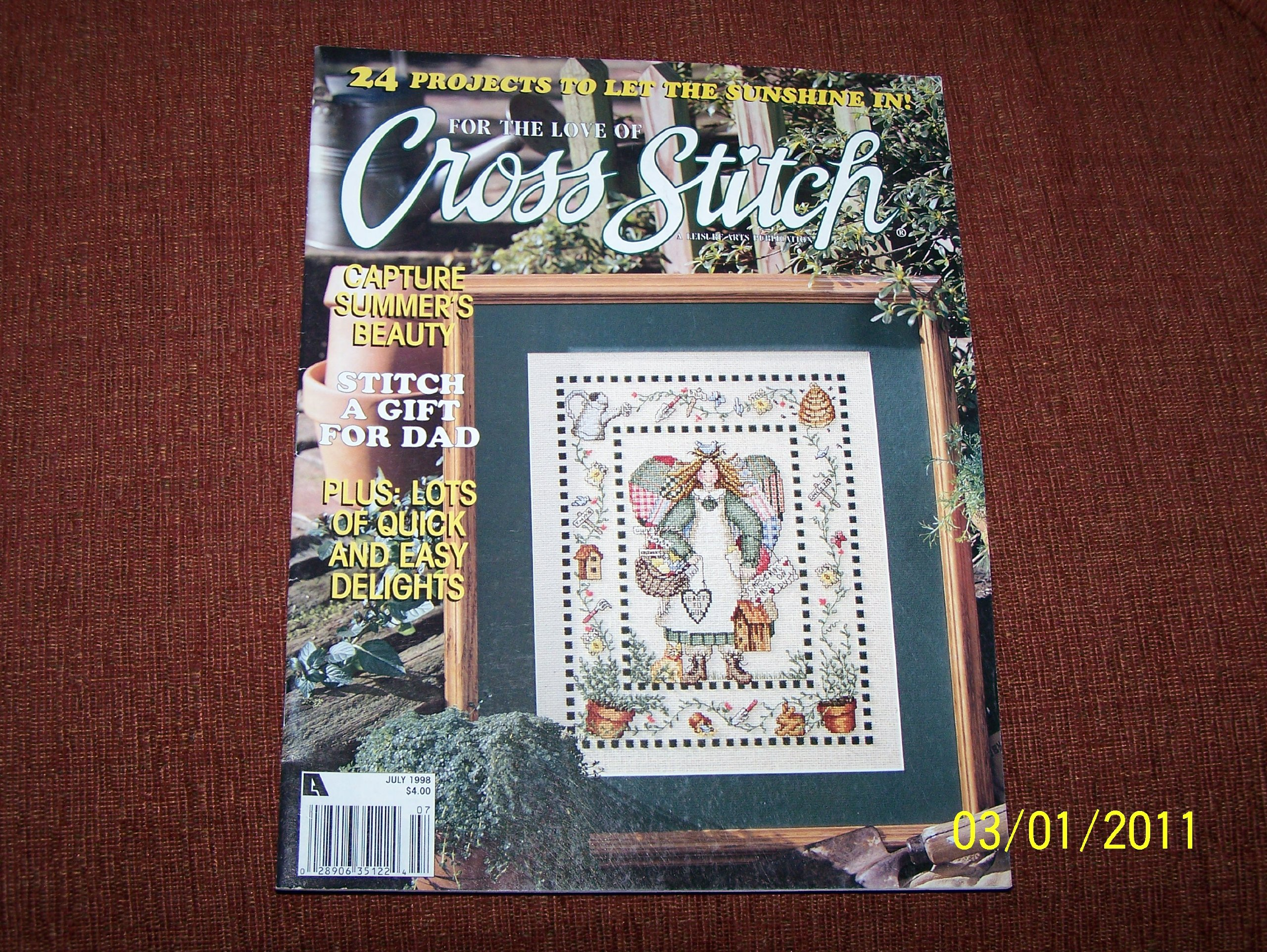 For the Love of Cross Stitch Magazine(Volume 11, No. 1) JULY 1998