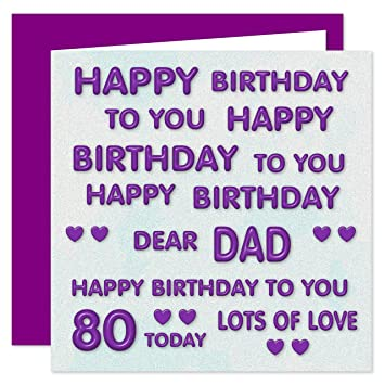 Dad 80th Happy Birthday Card