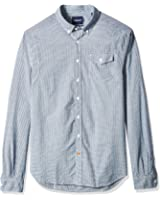 Scotch & Soda Men's Lightweight Brushed Flannel Shirt With Workwear Elements