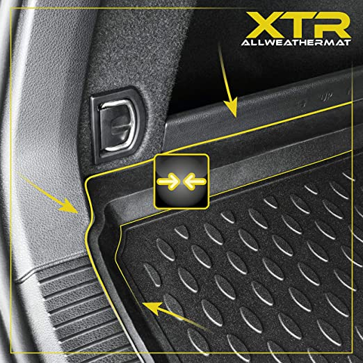 W204 Walser XTR Tapis de Coffre Compatible avec Mercedes Benz Classe C Limousine ann/ée de Construction 2011-2014 passend pour Modelle sans Une Poche sur Le c/ôt/é du Coffre