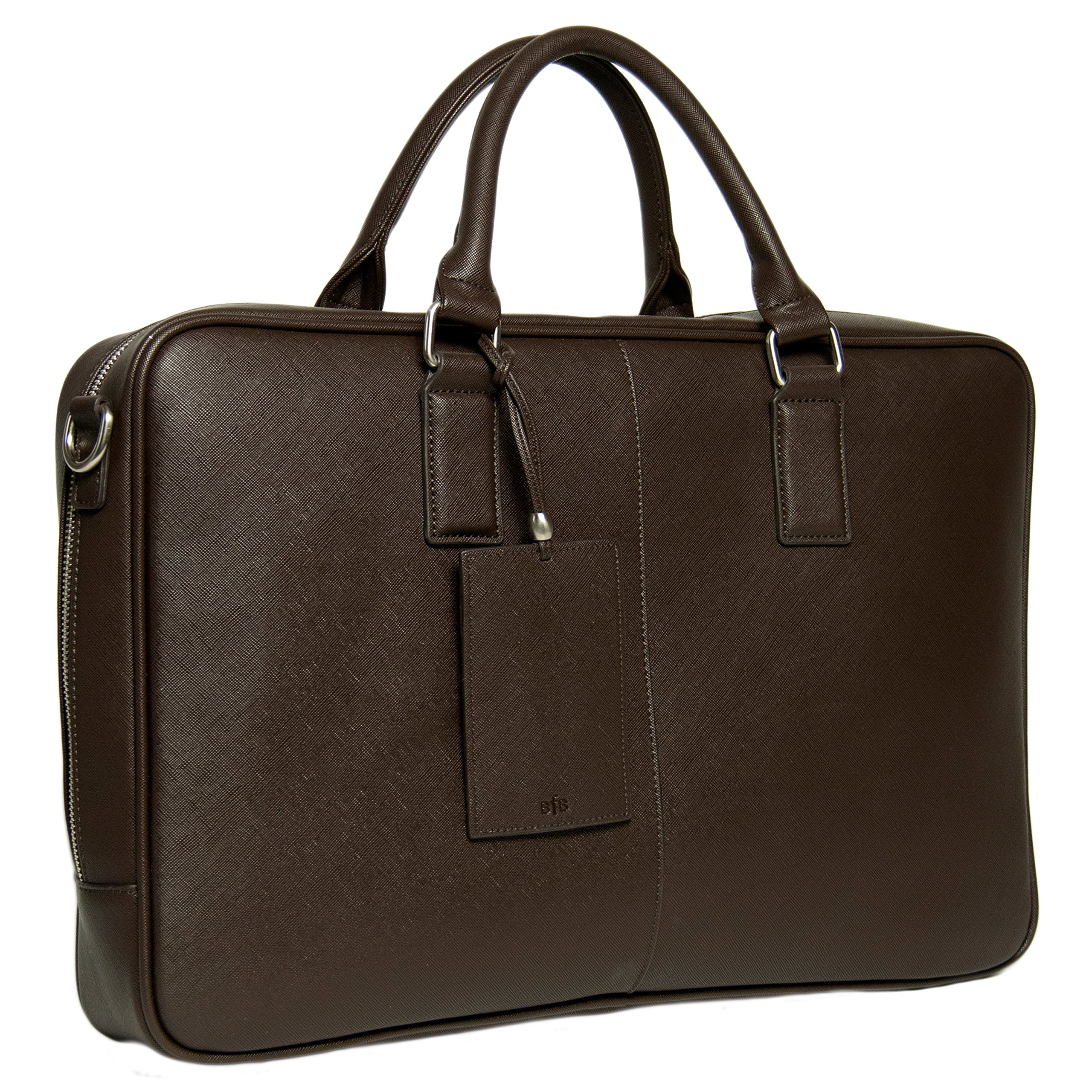 BfB Laptop Messenger Bag For Men - Designer Business Computer Bag Or Attorney Briefcase - Ideal Commuter Bag For Work And Travel - CHOCOLATE BROWN by My Best Friend is a Bag (Image #2)