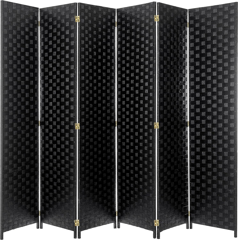 MyGift Divisor de habitación con bisagras, 4 paneles, papel tejido, ratán, pantalla de privacidad: Amazon.es: Juguetes y juegos