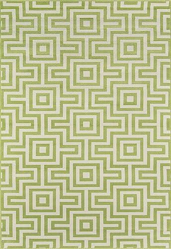 Nolita Rugs Abbot Polypropylene Green Indoor/Outdoor Rug 8'6″ X 13'