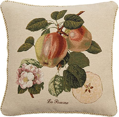 DaDa Bedding DP-307 Splendor of Apple Woven Decorative Pillows, 18 by 18-Inch, Set of 2