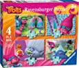 Ravensburger 6864 Trolls 4 in a box Jigsaw Puzzles - 12, 16, 20 and 24 Pieces