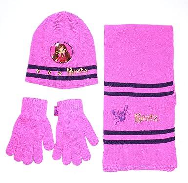 Bratz - Ensemble bonnet, écharpe et gants - Fille rose  Amazon.fr ... c37c080888e