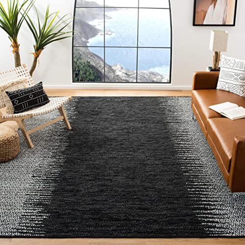 Safavieh Vintage Leather Collection VTL389C Light Grey and Black Area Rug, 8 x 10
