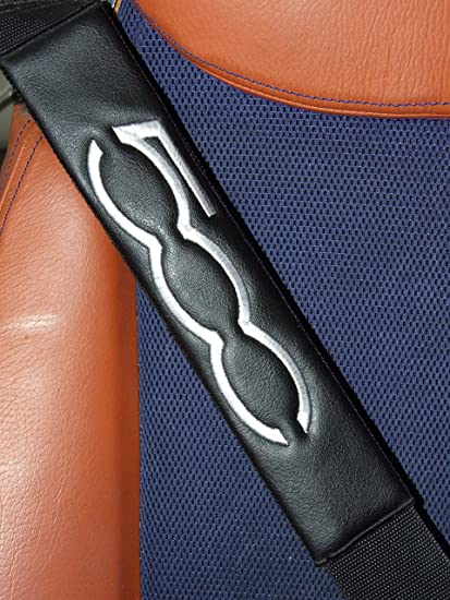 Cuscinetti Traspiranti per Cintura di Sicurezza in Fibra di Carbonio per Adulti e Bambini,Accessori Decorativi per Lo Styling AEVEILS 2PCS Imbottiture Cinture di Sicurezza per Fiat 500 500L 500X