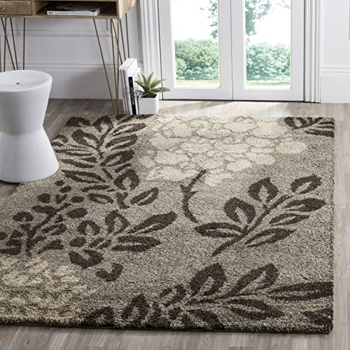 Safavieh Florida Shag Collection SG456-7928 Floral Textured 1.18-inch Thick Area Rug