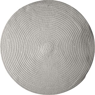product image for Colonial Mills Bristol Polypropylene Braided Round Rug, 12-Feet, Gray