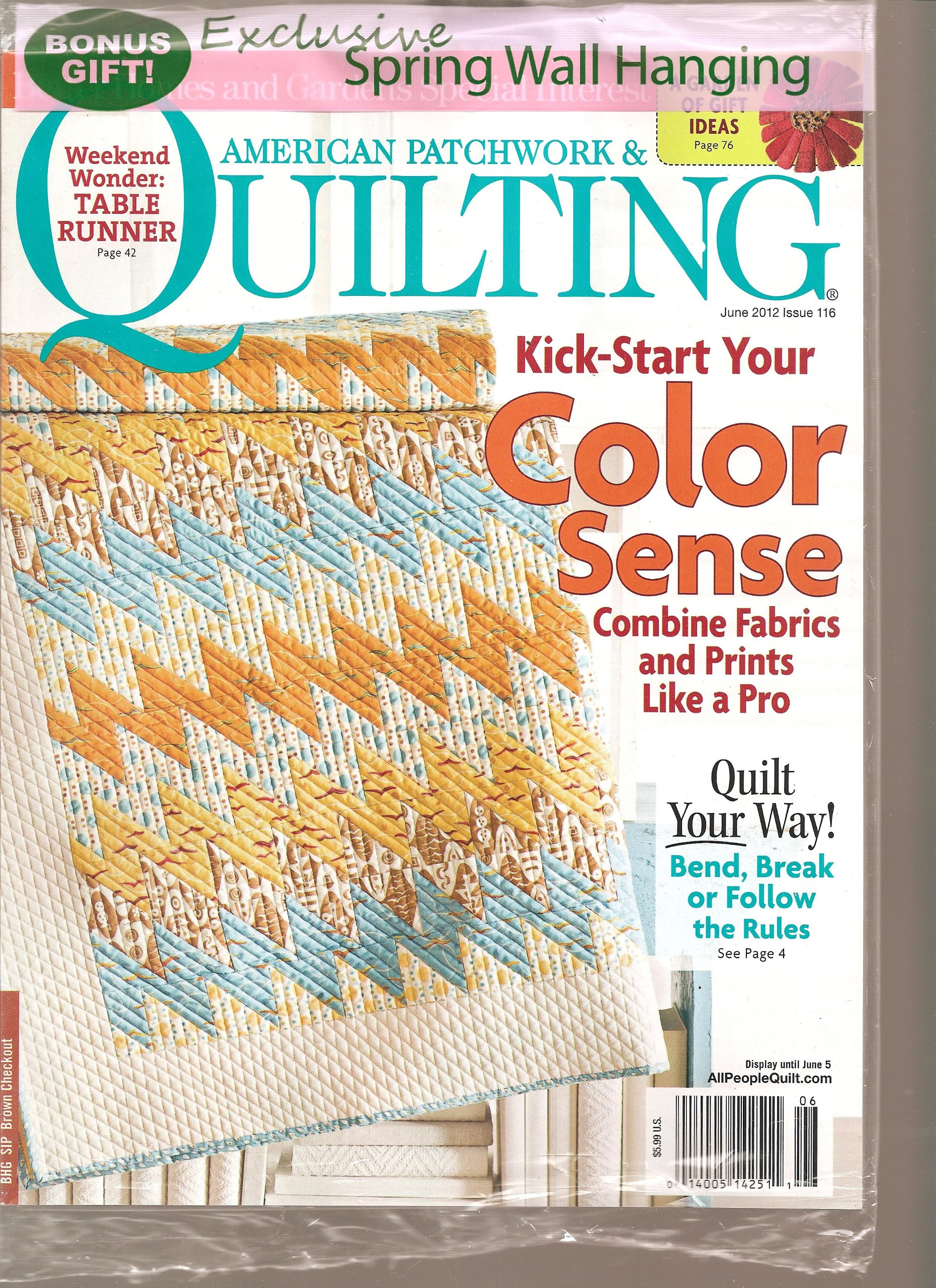 9c21014116 American Patchwork   Quilting Magazine (Kick start your color scene ...